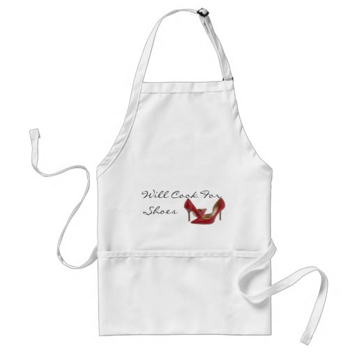 red shoe, Will Cook For Shoes Aprons