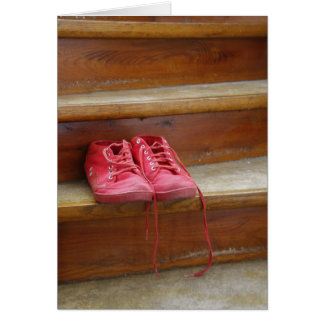 Red shoes card