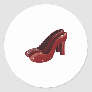 Red Shoes Classic Round Sticker