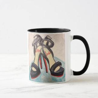 Red shoes mug