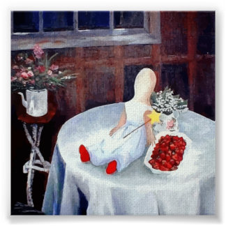 Red Shoes n' Strawberries by Elizabeth Poster