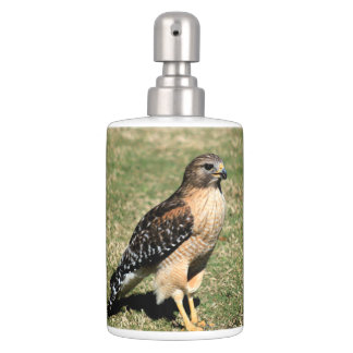 Red Shouldered Hawk on Golf Course Bath Accessory Sets