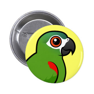 Red-shouldered Macaw Pinback Button