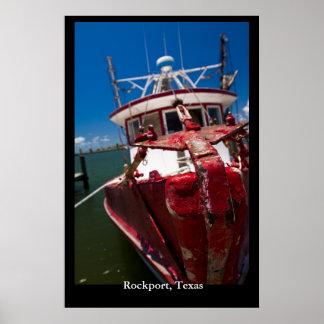 Red Shrimp Boat Poster
