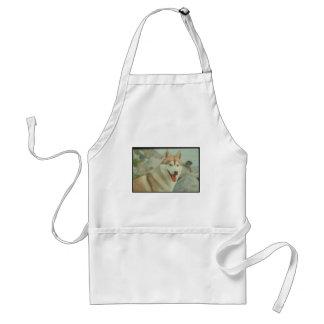 Red Siberian Husky Aprons