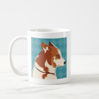 Red Siberian Husky Coffee Mug - Walk Time