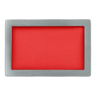 Red-Side Orange Custom Colored Rectangular Belt Buckles