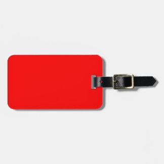 Red-Side Orange Custom Coloured Luggage Tag