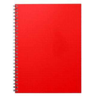 Red-Side Orange Custom Coloured Notebooks