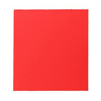 Red-Side Orange Custom Coloured Notepad