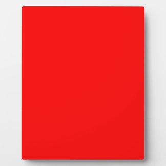 Red-Side Orange Custom Coloured Plaque