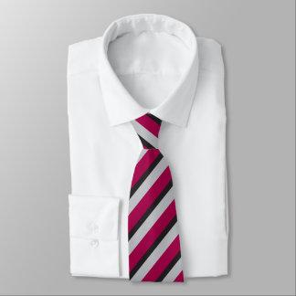 Red Silver and Black Regimental Stripe Tie