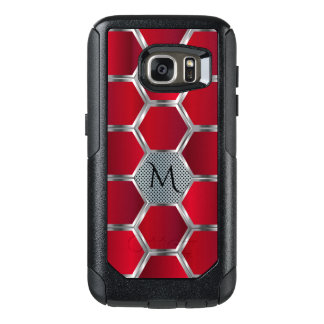 Red & Silver Geometric Pattern OtterBox Samsung Galaxy S7 Case