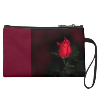 Red Single Rose- 1 Sauve Wristlet