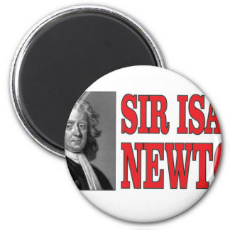 red sir Newton 2 Inch Round Magnet