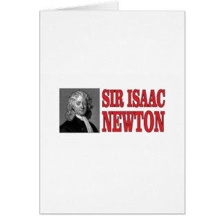 red sir Newton Card