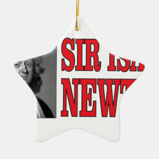 red sir Newton Ceramic Star Ornament