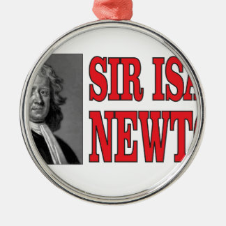 red sir Newton Silver-Colored Round Ornament