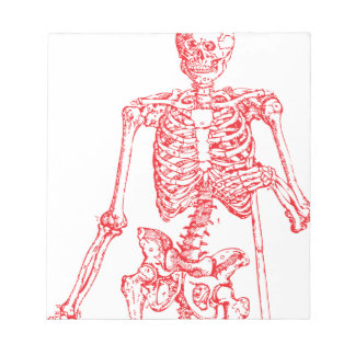 Red Skeleton Notepads