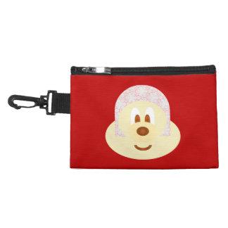 Red Ski Hat 鮑 鮑 Gray Clip Bag