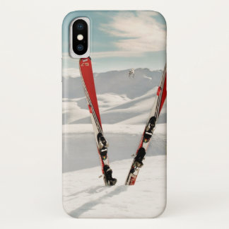 Red Skis iPhone X Case