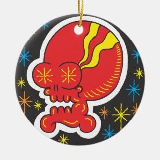 Red Skull Ceramic Ornament