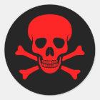 Red Skull & Crossbones Sticker