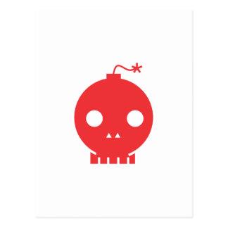 red skull postcard