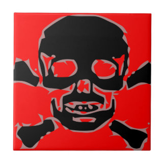 Red skull tile
