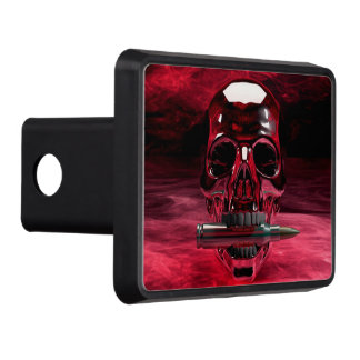 Red Skull Trailer Hitch Cover