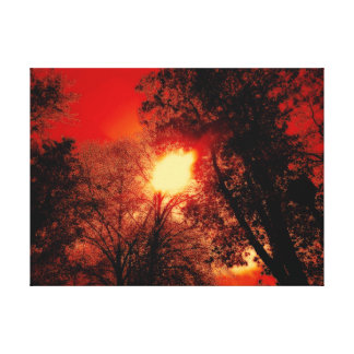 Red Sky And The Burning Sun Canvas Print