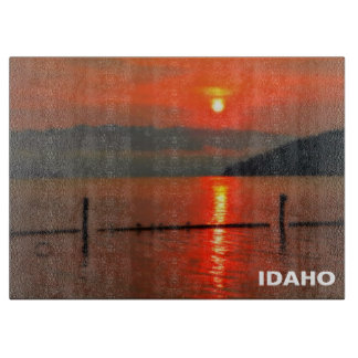 Red Sky At Morning Cutting Board