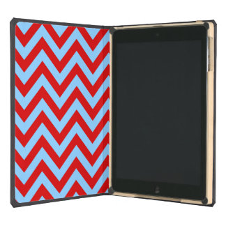 Red Sky Blue White Large Chevron ZigZag Pattern Cover For iPad Air