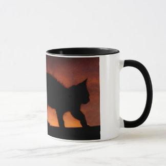 red sky cat mug
