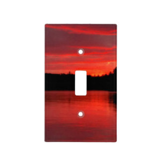 Red sky light switch cover