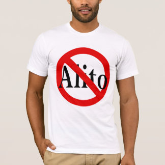 Red Slash Through Alito Anti-Alito T-Shirt