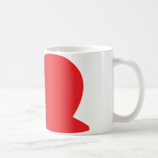 red slug icon coffee mug