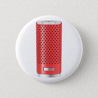 Red smart speaker 2 inch round button