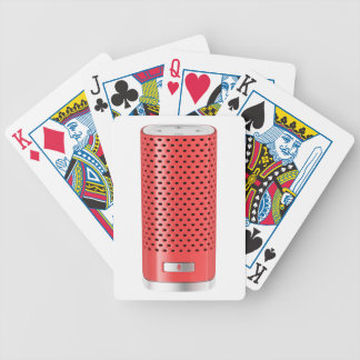 Red smart speaker bicycle playing cards