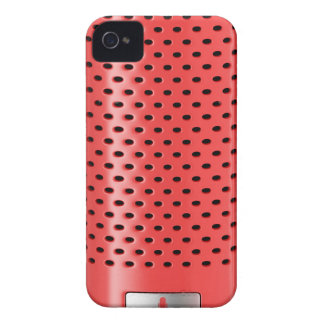 Red smart speaker iPhone 4 cover