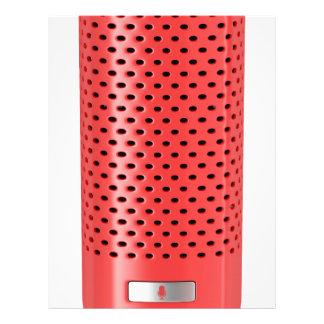 Red smart speaker letterhead