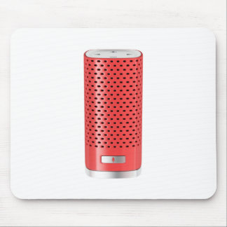 Red smart speaker mouse pad