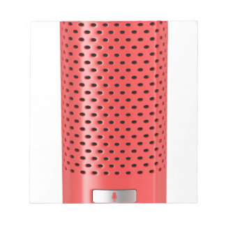 Red smart speaker notepad