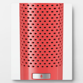 Red smart speaker plaque