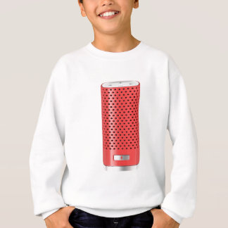 Red smart speaker sweatshirt