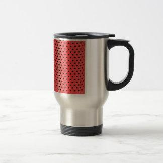 Red smart speaker travel mug