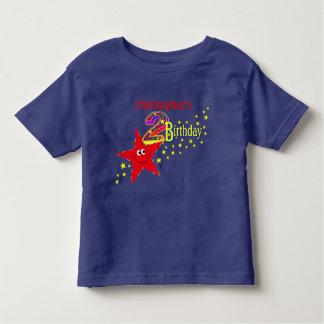 Red Smiley Star 2nd Birthday Shirt
