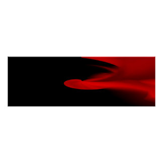 """Red Smoke"" Minimalist Narrow Horizontal Poster"