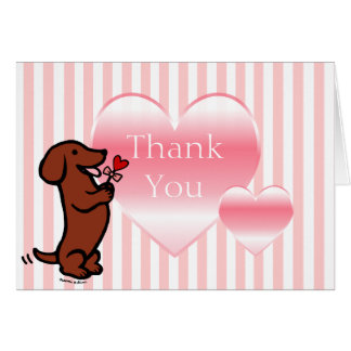Red Smooth Haired Dachshund Card