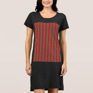 Red Snake Black T Shirt Dress
